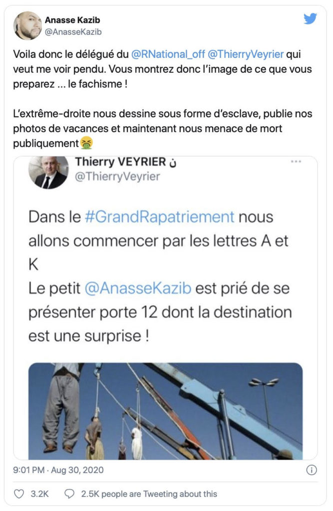Tweet in French