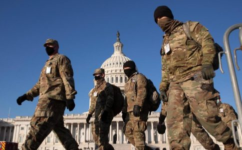 National Guard members outside the U.S. Capitol
