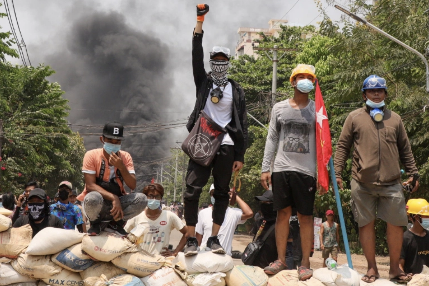 Myanmar protestors